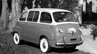 フィアット600ムルティプラ (初代 '56-'66):600をベースにしたワンボックス型ワゴン