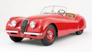ジャガー XK120 ('48-'54):同社として戦後初めて新規設計されたスポーツカー