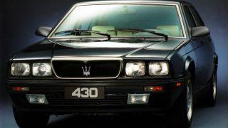 マセラティ 430 ('87-'94):ビトゥルボ425を後を継いだ小型高性能セダン