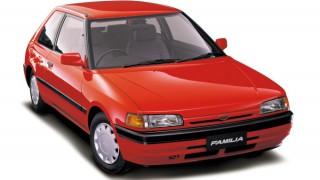 マツダ ファミリア (7代目 '85-'94):プラットフォームを刷新しボディごとに異なるデザインを採用 [BG]