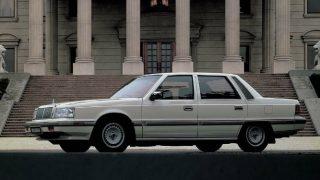 三菱 デボネアV (2代目 '86-'92):ヒュンダイ向けVIPカーの三菱版として誕生 [S12A]