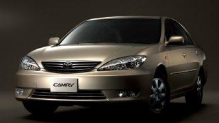 トヨタ カムリ (7代目 '01-'06):プラットフォームを刷新しボディサイズを拡大 [XV30]