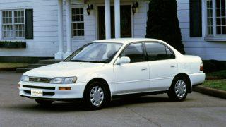 トヨタ カローラ (7代目 '91-'02):全車4輪独立懸架となり、安全性能も向上 [E10♯]