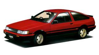 """トヨタ カローラレビン/スプリンタートレノ (4代目 '83-'87):AE86は""""ハチロク""""の愛称で大人気に [AE85/86]"""