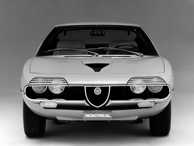 アルファロメオ モントリオール (1970-1977):ガンディーニデザインの2.6L V8GT