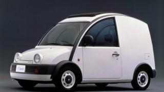 日産 エスカルゴ (R-G20 '89-'90):ユニークな外観が特徴のライトバン型パイクカー