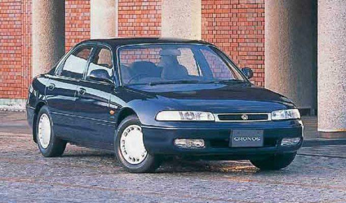 マツダ クロノス/アンフィニ MS-6 (GE 1991-1997):3ナンバーV6となったミディアムセダン